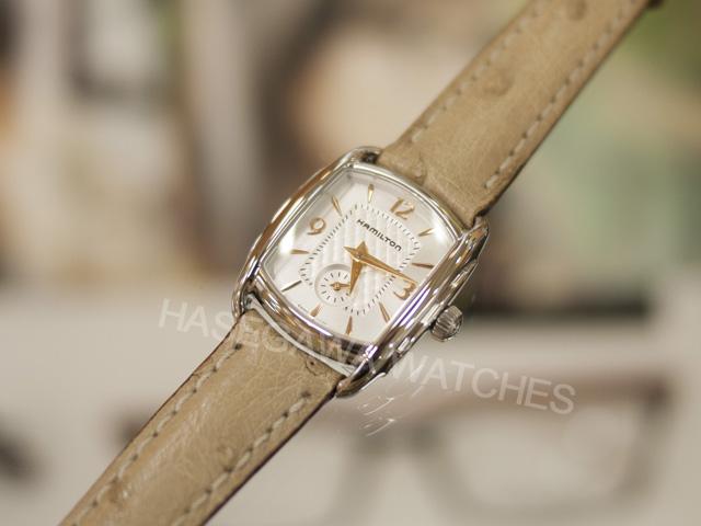 156affdf87 ハミルトン『バグリー』レディース腕時計オーストリッチ革H12351855正規店